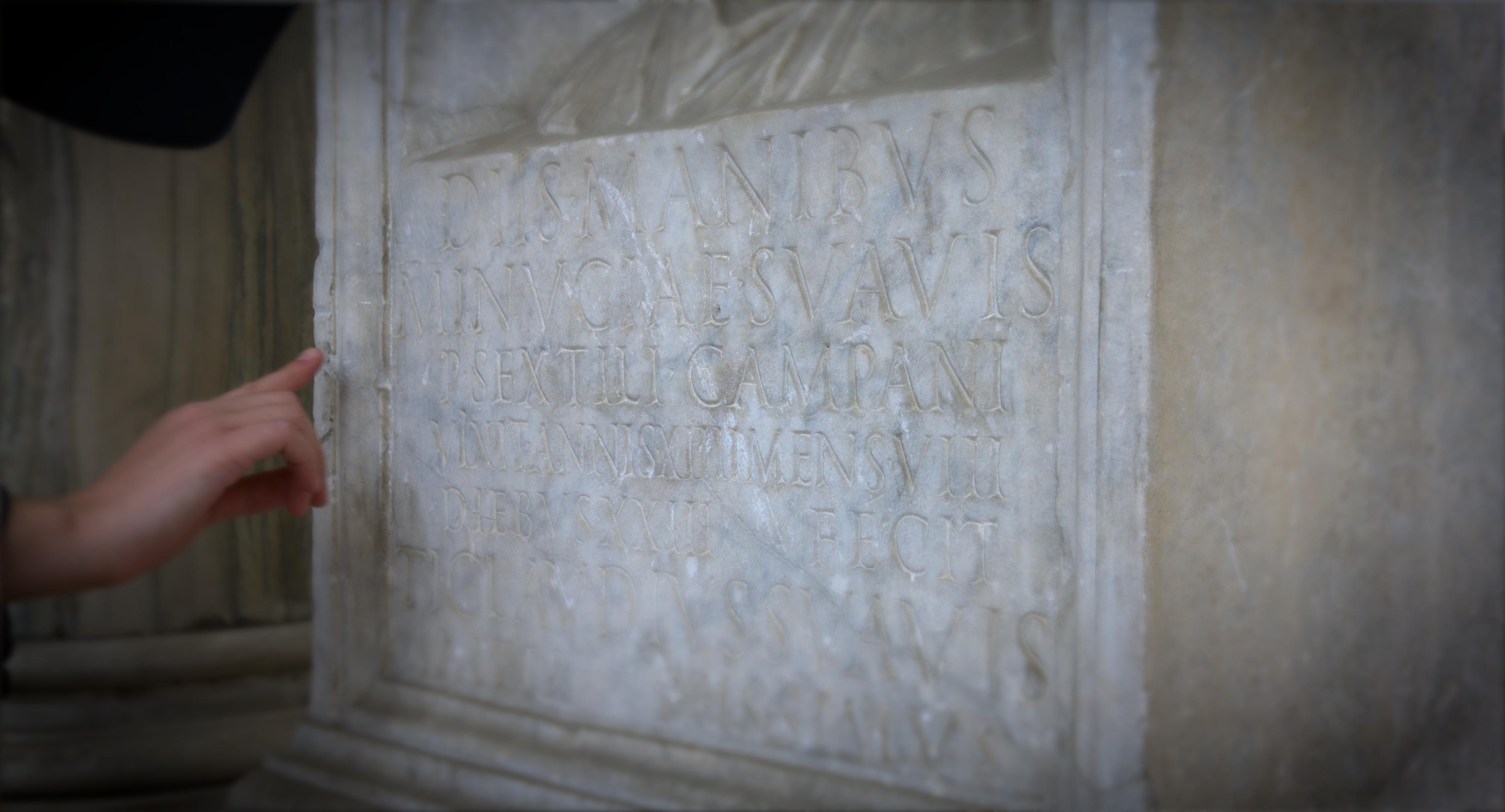 A Latin inscription
