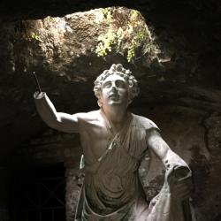 statue of Mithras and the bull in Mithraeum in Ostia